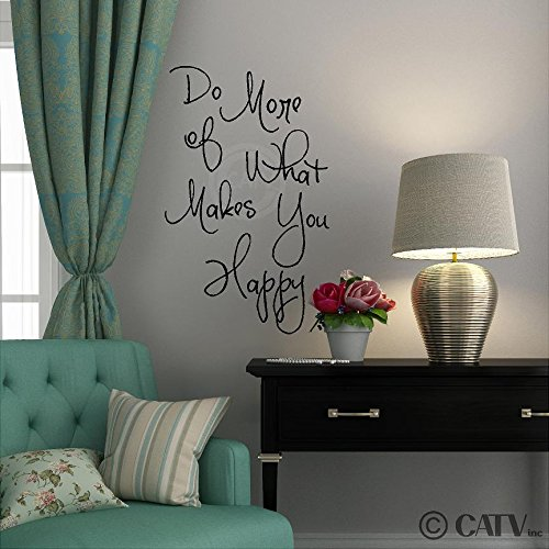 Do More of What Makes You Happy (M) wall saying vinyl lettering home decor decal stickers quotes (Do More Of What Makes You Happy compare prices)