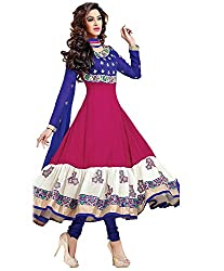 Fabpandora Womens Dress Material (Aayeshad01 _Multi-Coloured _Free Size)