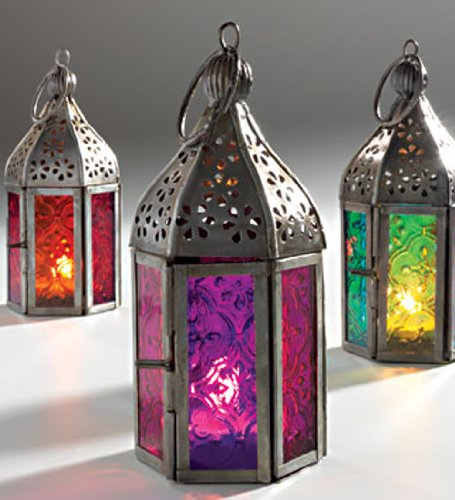 new-moroccan-mini-iron-glass-lantern-tea-light-holder-home-garden-purple-by-giverny-gifts