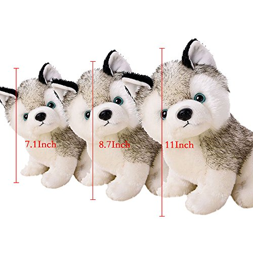 Husky Dog Baby Kids Plush Toys,White and Gray,3 Size Stuffed Animal Plush (Sonic The Hedgehog Ice Cream compare prices)