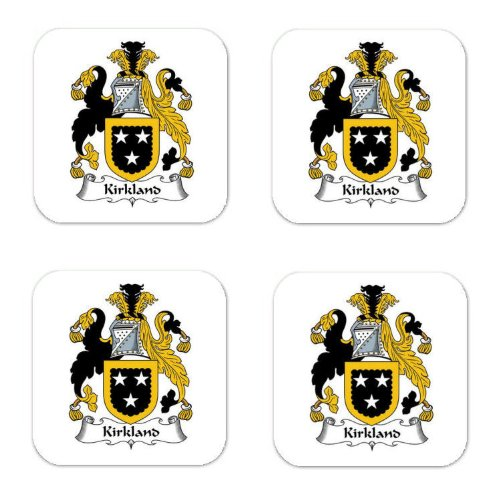 Kirkland Family Crest Square Coasters Coat Of Arms Coasters - Set Of 4 front-409894