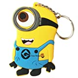 Cattivissimo me Despicable Me Minion e 3'' PVC Figure Keychain Keyring catena chiave One Pieces
