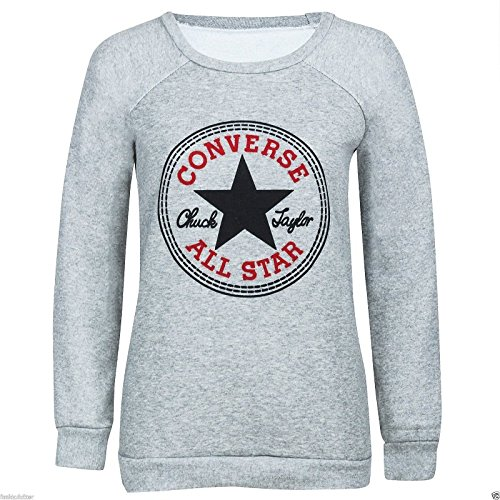 outofgas-clothing-pull-imprime-converse-all-star-pour-femme-taille-8-14-gris-gris