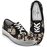 Disney Caught In The Moment Mickey And Minnie Women's Canvas Shoes by The Bradford Exchange