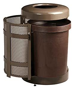 rubbermaid commercial products fga38tsdbkpl architek decorative outdoor trash can. Black Bedroom Furniture Sets. Home Design Ideas
