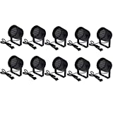 TMS 10pcs 86 RGB LED Stage Light Par Dmx-512 Lighting Laser Projector Party Club Pub KTV Dj