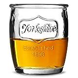 Yorkshire Medallion Shot Glasses 3.5oz / 100ml - Pack of 6   Mini Jam Jar Shot Glasses Mason Jar Shot Glasses Novelty Shot Glasses
