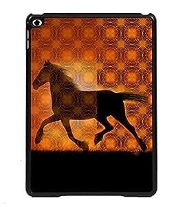 Printvisa 2D Printed Horse Designer back case cover for Apple iPad 6- D4572