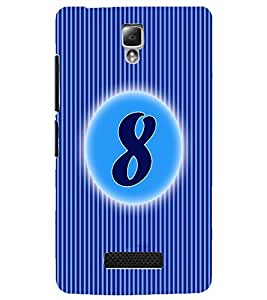 PrintDhaba Numerology Number 8 D-2563 Back Case Cover for LENOVO A2010 (Multi-Coloured)