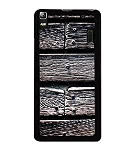 Fuson Premium 2D Back Case Cover designed wood With White Background Degined For Lenovo K3 Note