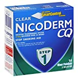 Nicoderm Stop Smoking Aid, Step 1, Clear Patches, 2-Week Kit, 14 patches
