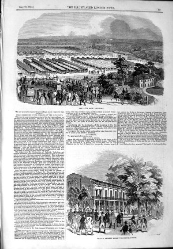 1844 Cattle Show Portswood Victoria Archery Rooms