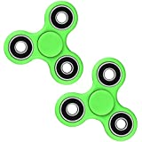EcomBiz Tri-spinner Fidget Toy Hand Spinner – Stress Reducer, Durable Bearing Spinner With High Speed, Super Smooth And Well Balanced Combo 2 Color Green