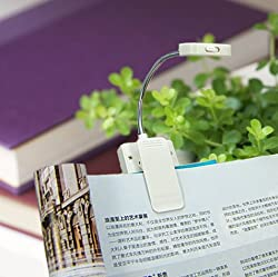 BLAU FÃœNF Portable Solar Reading Lamp with Bright LED Lights, Clip and Ultra Flexible Neck