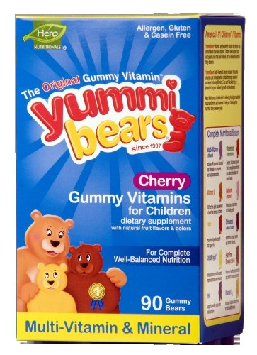 Christmas Yummi Bears Cherry Multi-Vitamin and Mineral 90 Bears Deals