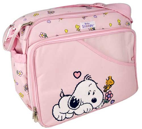 baby snoopy large pink diaper bag wipe case. Black Bedroom Furniture Sets. Home Design Ideas