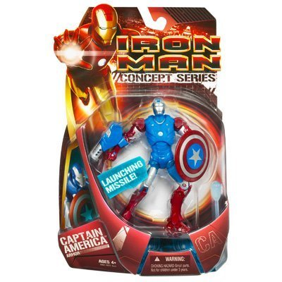 Iron Man Movie Action Figure Capt. America Armor Iron Man by Hasbro