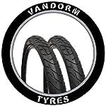 """PAIR of 26"""" Slick Tyre MTB Vandorm Wi..."""