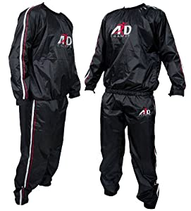 Heavy Duty Sweat Suit Sauna Exercise Gym Suit Fitness Weight Loss Anti-Rip S-XXL (Large)