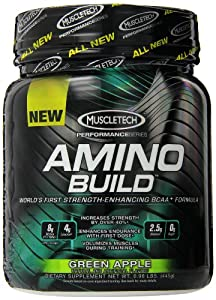 Muscletech Amino Build Sports Drink, Green Apple, 0.98 lbs.