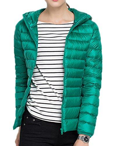 Bigood-Femme-Manteau-Courte-Jacket-Doudoune-Duvet-Blouson-Chaud-Haute-Qualit-Parka-Rembourr-Pour-Hiver-Vert-3XL