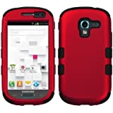 MYBAT Titanium Hybrid Dual Layer Phone Protector Cover for Samsung Galaxy Exhibit T599 - Carrying Case - Retail Packaging - Red/Black