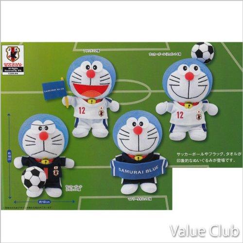Dora Doraemon plush Japan national soccer team Ver (complete set of 4)