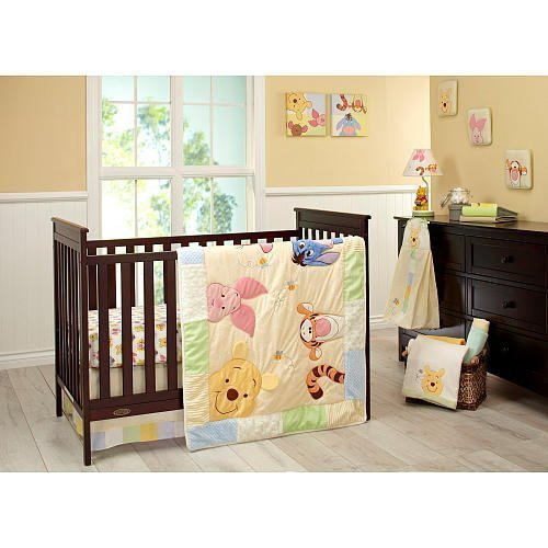 Disney Baby - Peeking Pooh 7 Piece Crib Set (Classic Pooh Crib Bedding compare prices)