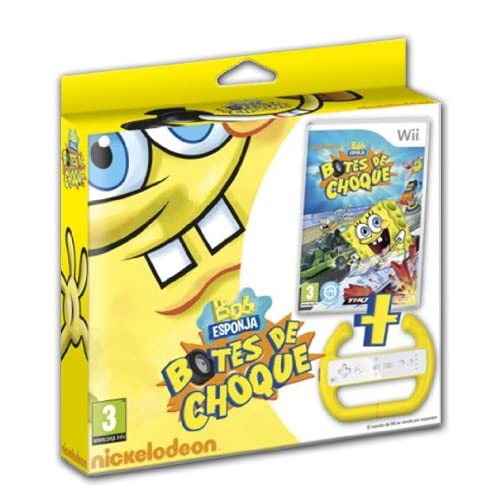 Bob Esponja Botes de Choque Volantes y pedales para videojuegos baratos Steering wheels and pedals video games cheap