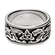 Celtic Dragon Ring in Sterling Silver