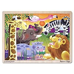 [Best price] Puzzles - Melissa & Doug African Plains Jigsaw 24 pcs Puzzle - toys-games