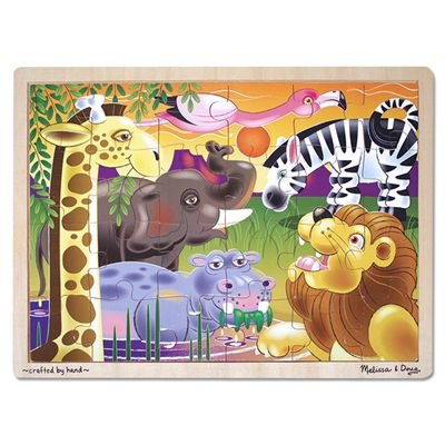 51yzdsbqh9L Cheap Buy  Melissa & Doug African Plains Jigsaw 24 pcs Puzzle