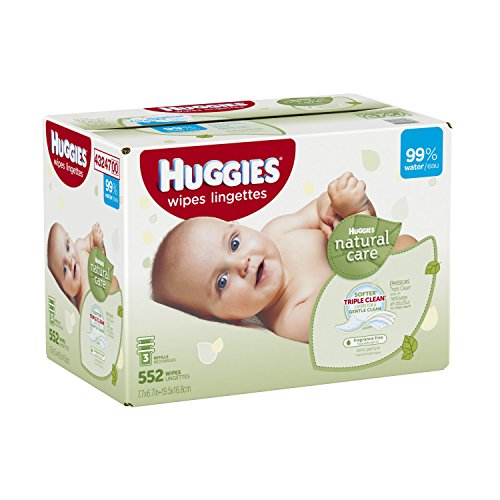 Huggies Natural Care Baby Wipes Refill, 552 Count