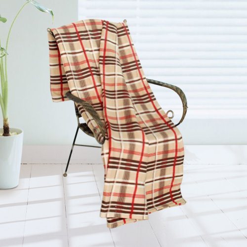Brown And Red Bedding 2697 front