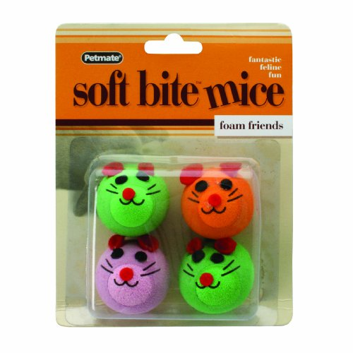 Petmate Softbite Foam Mice Cat Toy, 4-Pack