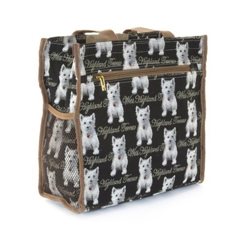 Signare Womens Fashion Tapestry Shopper Bag in Westie Design