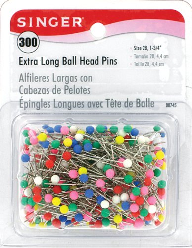 Best Buy! Singer X-Long Ball Head Pins, 300-Count