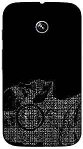 Timpax Hard Back Case Cover Printed Design : A stranger.Specifically Design For : Motorola Moto-E ( 1st Gen )
