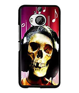 Fuson 2D Printed Skull Face Designer back case cover for HTC One M9 Plus - D4620