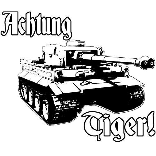 Achtung Tiger Tank Panzer Stalingrad World Tanks German Model Rc Vinyl Decal By Achtung T Shirt LLC