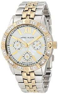 Anne Klein Women's AK/1001MPTT Swarovski Crystal Accented Two-Tone Watch