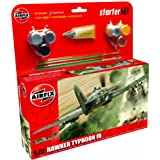 Airfix 1:72 Hawker Typhoon Ib Starter Aircraft Model Set (Medium)