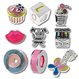 Timeline Trinketts Beads and Charms for Pandora Bracelets Pink Just For Girls 2013 Collection