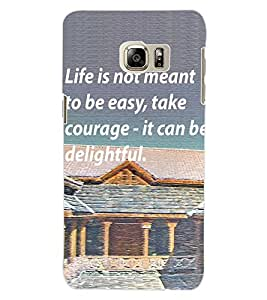 ColourCraft Quote Design Back Case Cover for SAMSUNG GALAXY S6 EDGE PLUS
