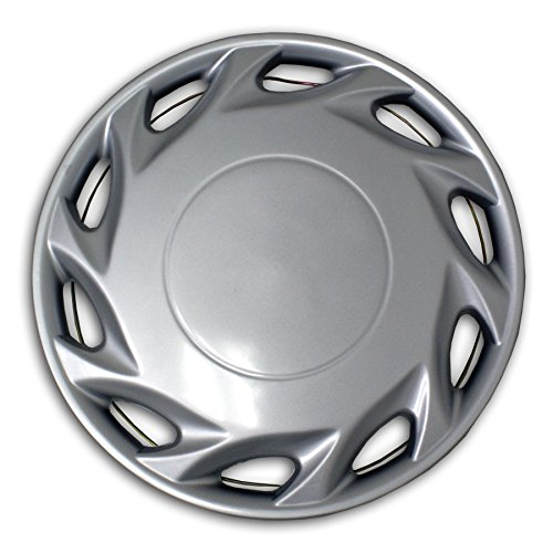 TuningPros WSC2-055S14 Hubcaps Wheel Skin Cover Type 2 14-Inches Silver Set of 4 (Hubcaps For Toyota Yaris 14 Inch compare prices)