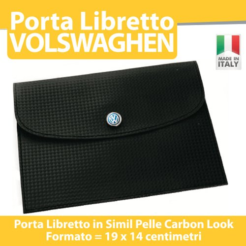 PORTA DOCUMENTI LIBRETTO ASSICURAZIONE BOLLO AUTO MOTO TUNING - VOLKSWAGEN Golf Up Polo Passat Tuareg - PORTADOCUMENTI printerlad.it