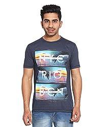 Le Bon Ton Men's Cotton Blend T-Shirt (AMZ_AMP_104_Blue_X-Large)