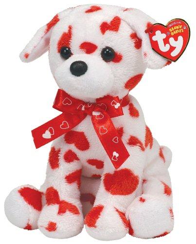 Imagen de Ty Beanie Baby precioso perro con la impresión del corazón