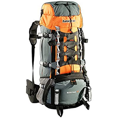 AspenSport Rucksack Mount Cook, grau/orange, 75 x 35 x 30 cm, 65 Liter, AB06Y04