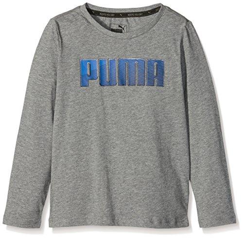 Sport Puma-Maglietta a maniche lunghe da ragazzo, taglia M, colore: grigio antracite, taglia: 16 anni (taglia del produttore): 176